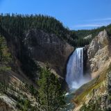 Blick auf den Lower Falls im Grand Canyon of the Yellowstone.