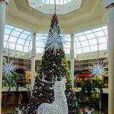 Weihnachtsstimmung in Savannah's Shoppingcenter.