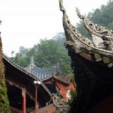 Traditionelle chinesische Haeuser in Leshan